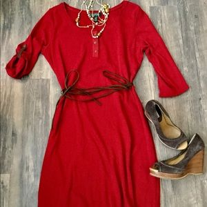 Lauren ralph lauren shirt dress with belt